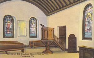 Virginia Petersburg Interior Of Old Blandford Church Built 1735