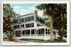 Damariscotta Maine~Fiske House~Vintage Car Parked on Side~1920s