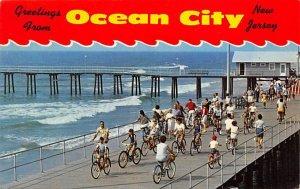 Greetings Ocean City NJ., USA Bicycle 1970