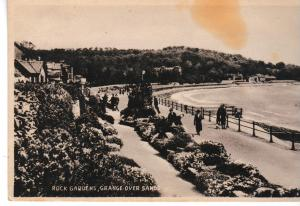 Post Card Cumbria Grange over Sands ROCK GARDENS Valentine's Sepiatype