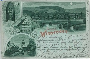 27979 - Ansichtskarten POSTCARD - Germany Deutschland - GRUSS AUS Winnenden 1908