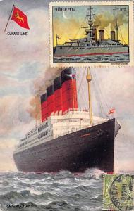 R.M.S. Aquitania Oceanliner Ship Cunard Line Ship Steamer writing on back