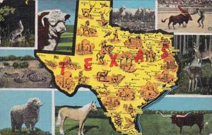 Map Of Texas 1946