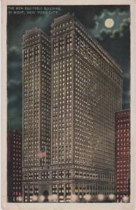 NEW YORK CITY NIGHT VIEW OF EQUITABLE LIFE INSURANCE BLDG,  NYC