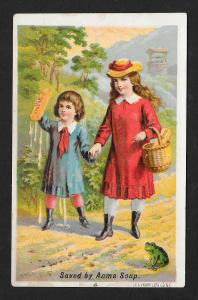 VICTORIAN TRADE CARD Acme Soap Foster & Rogers Grocers