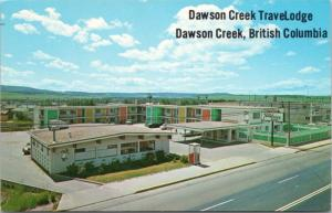 Dawson Creek Travelodge BC British Columbia Unused Vintage Postcard D61