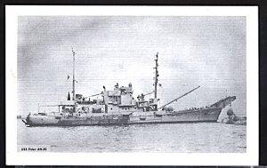 USA Postcard USS Elder AN-20 World War II Minesweeper