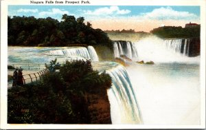 Niagara Falls from Prospect Park Postcard unused 1915-30s (3661)