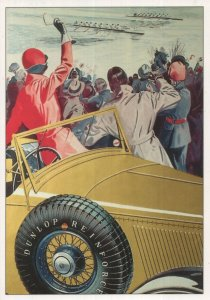 Dunlop Tyres Advertising Postcard