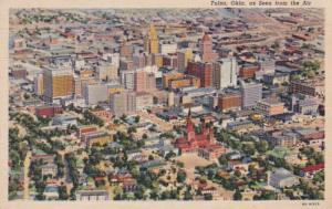 Oklahoma Tulsa Aerial View Curteich