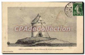 Postcard Old Crecy En Ponthieu Moulin D'Edward III