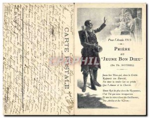 Old Postcard Folklore Young Prayer to God Botrel