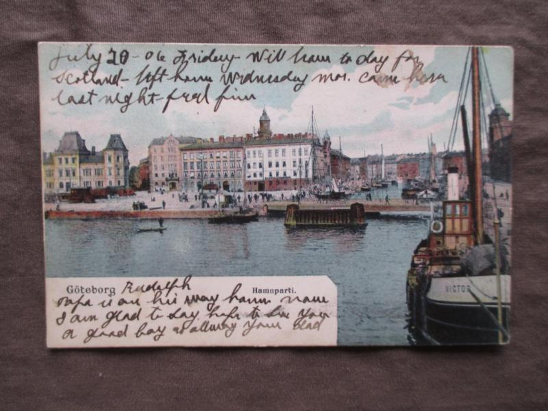 Early 1900s Sweden Picture Postcard - Goteborg, Hamnparti  Waterfront (VV53)