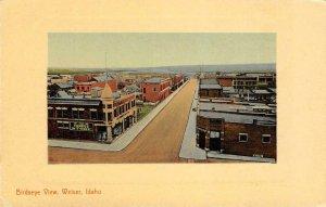 Birdseye View WEISER Idaho Street Scene ca 1910s Vintage Postcard