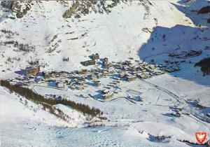 France Val D'Isere Vue generale et la piste de Bellevarde