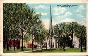 North Carolina Charlotte First Presbyterian Church 1918