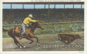 Calf Roping Western Cowboy Unused