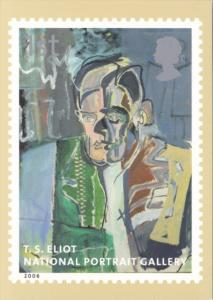 England Royal Mail Stamps 2006 T S Eliot National Portrait Gallery