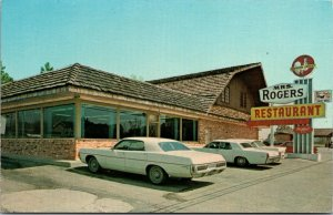 Postcard Mrs. Rogers Restaurant in Claxton, Georgia~132351