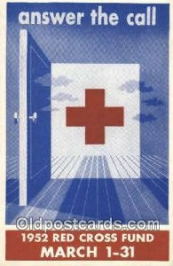 1952 Red Cross Fund Red Cross Unused