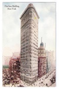 Flatiron Building New York NY Vintage ca 1910 Postcard