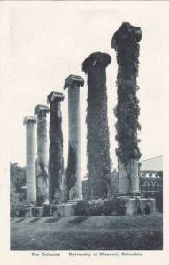 Missouri Columbia The Columns Unversity Of Missouri Albertype