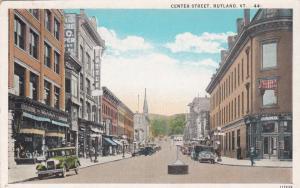 RUTLAND, Vermont, 1910-20s ; Center Street
