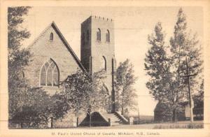 New Brunswick Canada McAdam St Paul Church Antique Postcard K45700