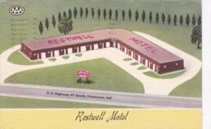 Indiana Vincennes The Restwell Motel 1957
