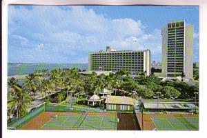 Caribe Hilton Complex, Tennis Courts, Puerto Rico, Photo Herbert Miller