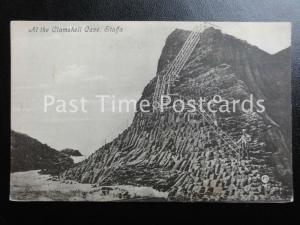 Argyllshire STAFFA Steps leading to THE CLAMSHELL CAVE - Old Postcard Valentine