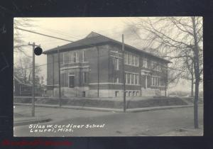 RPPC LAUREL MISSISSIPPI SILAS W GARDINER SCHOOL VINTAGE REAL PHOTO POSTCARD