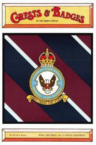 Postcard RAF Royal Air Force No.71 Eagle Squadron Crest Badge No.65 NEW