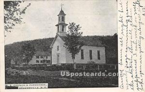 M E Church and Parsonage Grahamsville NY 1906