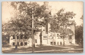 Summit Illinois~Public School House~Cupola~Widows Walk~1912 Huckins RPPC