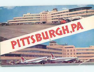 Pre-1980 AIRPLANES AT AIRPORT Pittsburgh Pennsylvania PA ho7567