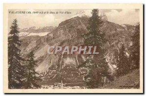 Old Postcard Val d'Isere and Dome of Val d'Isere