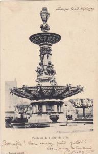 Fontaine de l'Hotel de Ville, Limoges, Haute-Vienne, France, 10-20s