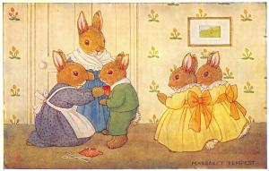 Margaret Tempest Fantasy~His First Suit~Dressed Bunny Rabbits~Sisters~Medici