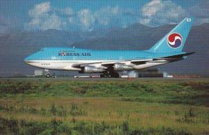 Korean Air Boeing 747SP-B5 At Anchorage Alaska