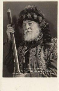 RP: WASHINGTON D.C., 1910-20s ; Daniel Boone Impersonator