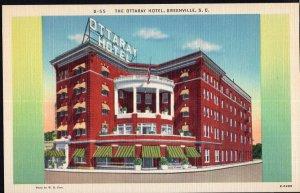 South Carolina ~ The Ottaray Hotel Main Street GREENVILLE LINEN