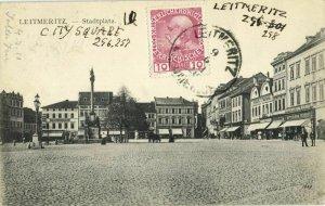 czech germany, LEITMERITZ LITOMĚŘICE, Stadtplatz (1911) Postcard