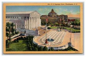 Vintage 1940's Postcard Panoramic View U.S. Supreme Court Building Washington DC