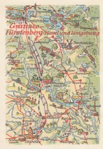Gransee Brandenburg Train Railway German Germany Map Postcard
