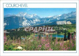 Postcard Modern Courchevel 1850 (Savoy) The Resort Alpin Garden in Tarentaise