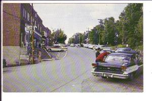 Main Street, Port Carling, Ontario, 50's Cars, Dated Aug/65