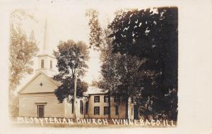 Winnebago Illinois~Presbyterian Church~Lots of Trees Around~Vintage RPPC