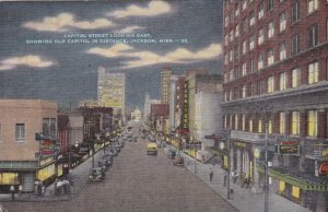 Mississippi Jackson Capitol Street Looking East At Night sk2222