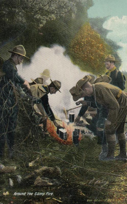 Soldiers around the Camp Fire , 1912